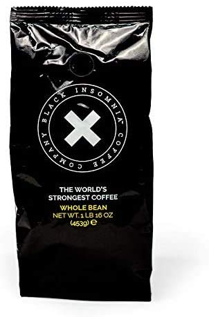 Black Insomnia Whole Bean Coffee - The Strongest Coffee in the...