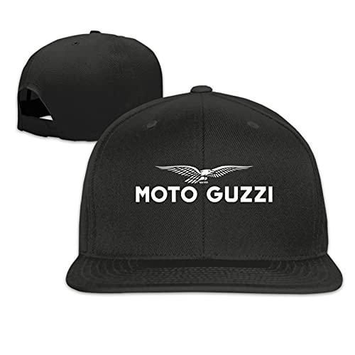 Moto Guzzi Logo Gorras de béisbolUnisex Clásico Ajustable Snapback Sombreros Hip-Hop Flat Bill Gorras De Béisbol Baseball Caps