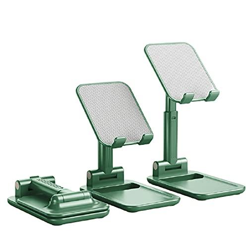 Soporte Movil TeléFono De Escritorio RetráCtil Plegable PortáTil Multifuncional Adecuado para Todos Los TeléFonos MóViles iPad TransmisióN En Vivo,Green