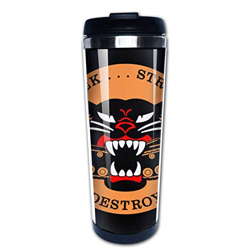 Ahdyr Taza de café de Viaje M18 Hellcat Seek Strike Destroy 2 Taza de Doble Pared aislada al vacío de Acero Inoxidable de 12 oz, Taza de café aislada para Bebidas Calientes al Aire Libre
