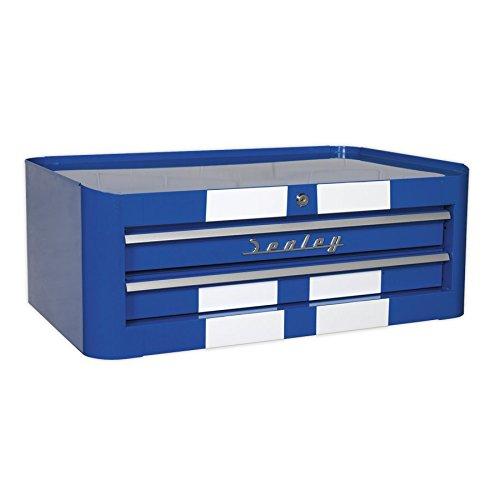 Sealey AP28102BWS Mid-Box 2 lade Retro stijl - Blauw met witte strepen