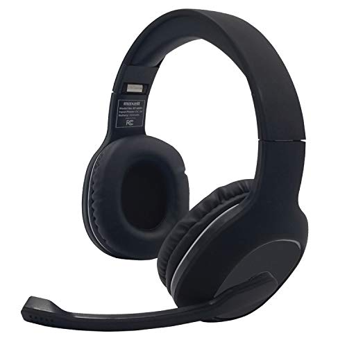 Maxell Bluetooth 5.0 Over Ear Headset with Boom Mic, Sound for Home Office use, Online Classes, Teams, and Zoom Meetings - Black