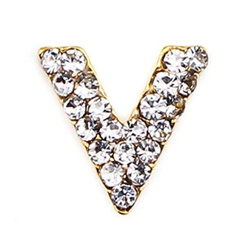 Rocita Pedrería de uña 3D,Rhinestone de Triángulo Flecha Diamante Aleación Nail DIY Decoraciones Cristales Joyería de Uñas 1/10 PCS