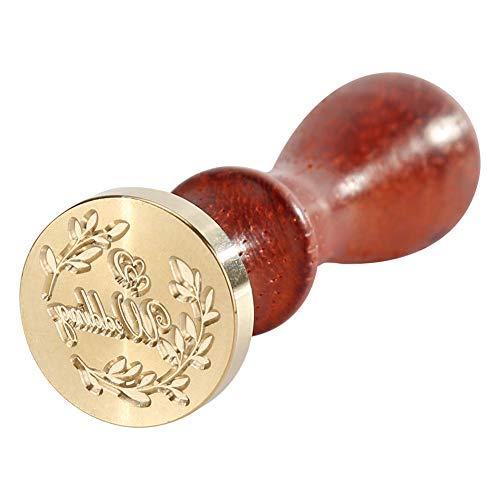 Sello de cera, sello con mango de madera, sello de diseño de amor para álbumes de recortes, patrón de amor 6