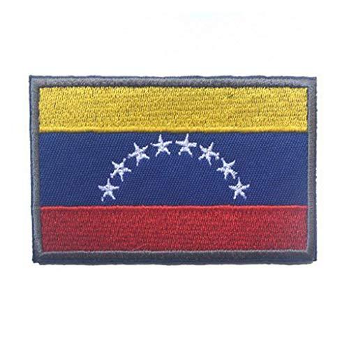 ShowPlus Venezuela Ve-Flagge, Militär, bestickt, taktischer Aufnäher, Moral, Schulterapplikation