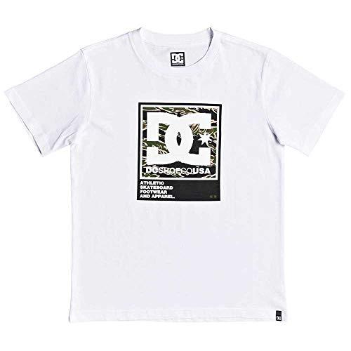 DC Shoes Arakana - Camiseta para Chicos 8-16 Camiseta, Niños, White, 10/S