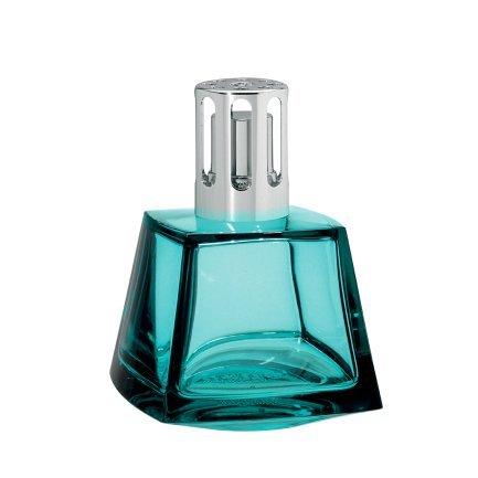 Lampe Berger Polygone Brûleur Verre Bleu Lagon 9 x 9 x 12,5 cm 1 unités