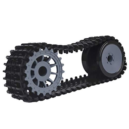 SM SunniMix Raupenkette Panzerkette mit Antriebsrad aus Kunststoff für DIY Arduino RC Auto