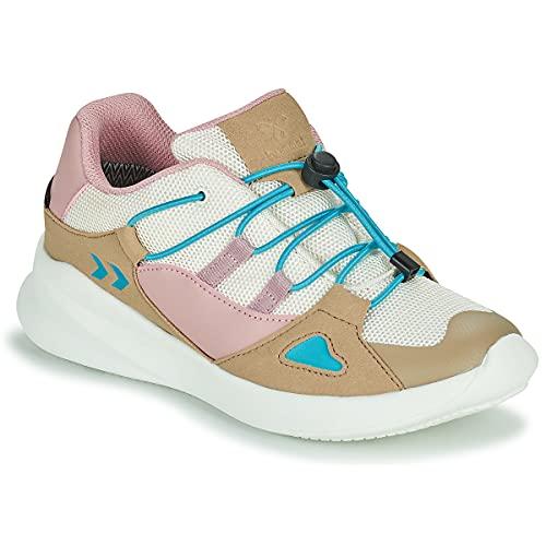 hummel Bounce Runner TEX JR Kinderschuhe Sneaker beige/bunt 210076-9806, Schuhgröße:28 EU