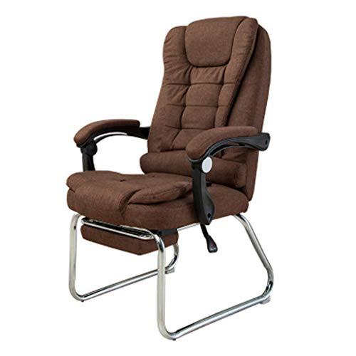 Tissu Chaise D'ordinateur Maison Moderne Simple Lazy Leisure Chaise D'étude Dossier Réunion De Bureau Siège Bow (Couleur : Ambre, taille : A)