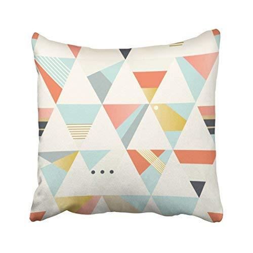 Funda de almohada decorativa para el hogar, 18 x 18 cm, diseño geométrico, color azul, vintage, abstracto, simple, color rombos diagonales, fundas de cojín decorativas, cuadradas, para sofá, accesorios para el hogar
