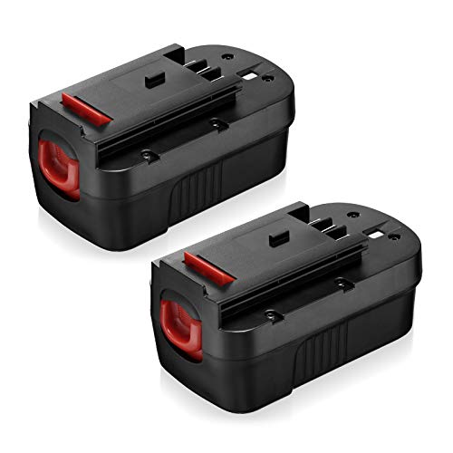 3700mAh HPB18 Ni-Mh Battery Compatible with Black and Decker 18 Volt HPB18-OPE 244760-00 A1718 FS18FL FSB18 Firestorm for All B&D 18V Battery Replacement,2Pack