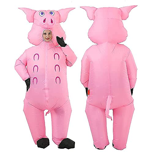 Inflatable Pig Costume Christmas Costumes Fancy Dress Masquerade Funny Cosplay Party...