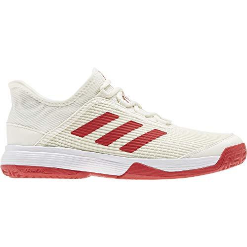 adidas Adizero Club k, Zapatillas de Tenis Unisex niños, Off White/Scarlet/FTWR White, 36.67 EU