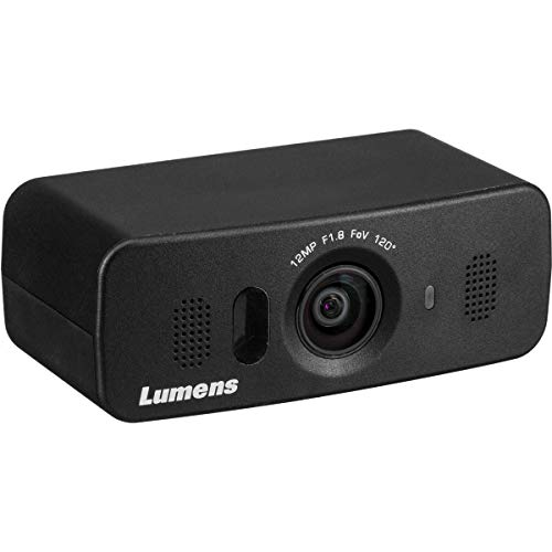 Lumens VC-B10U 12MP Ultra-HD USB 3.0 ePTZ Camera with Built-In Microphones, 8x Digital Zoom, Black