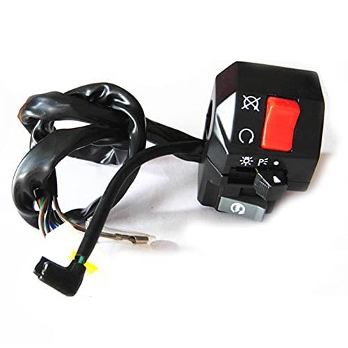 YGLIANHE Interruptores de Motocicleta Botón de bocina de Motos Señal de Giro de la señal de Niebla eléctrica de la lámpara de luz de Inicio de la luz del Controlador del Manillar 22 mm