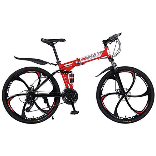Realde Herren Damen Klapprad, 26 Zoll, Leicht,Faltbares Fahrrad,Falt-Fahrrad Outdoor Bike,Zusammenfaltbares Fahrrad, Einfaches Transportieren,Rot, Weiß, Gelb, Schwarz