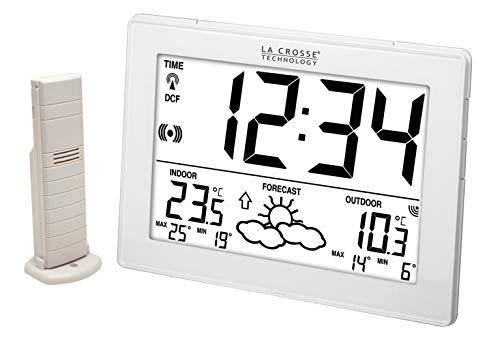 La Crosse Technology WS9180 Station météo températures int/ext - Blanc