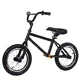 Bicicleta Sin Pedales 14 pulgadas Neumáticos de aire Bicicleta de equilibrio con reposapiés, Sin pedal Asiento ajustable Bicicleta para Big Boy Girls Kid, Marco de acero duradero Niño pequeño Biciclet