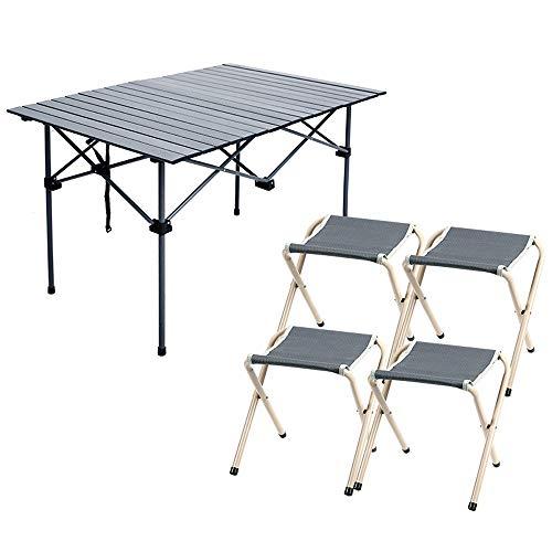 Jia He Picknicktisch Spray aluminiumlegierung Outdoor hubtisch klapptisch hocker Stuhl Set Kombination tragbarer grilltisch Home Tisch Wilde Freizeit Tisch -5 Arten von Kombination optional @@