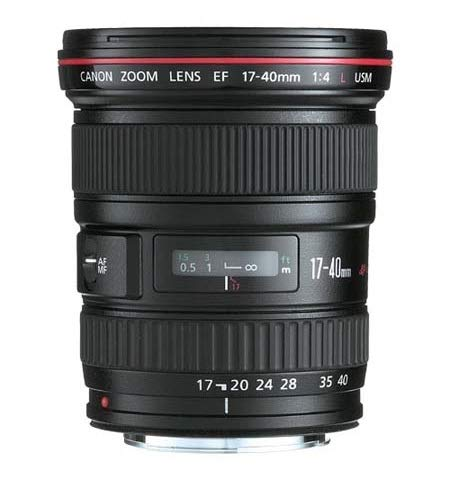 Canon EF 17-40mm/1:4,0 L USM Objektiv (77 mm Filtergewinde) (Generalüberholt)