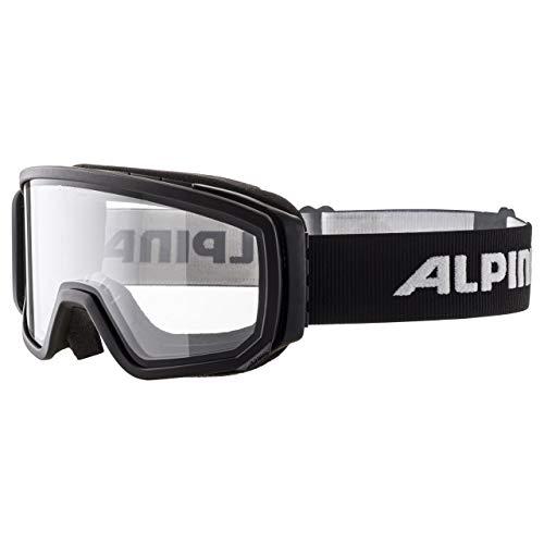 ALPINA Unisex - Erwachsene, SCARABEO Sportbrille, black Dclear, One size