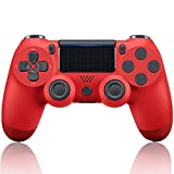 PS4 Controller, Wireless Bluetooth Pro Gamepad, Dual Motor Strong Vibration, Touchpad, Anti-Slip Grip, Remote Contro, USB Cable for PS4, Android Phone, iPhone, Laptop, Windows XP / 7/8/10