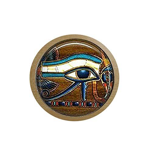 bab Glasfliesen-Schlüsselanhänger Auge des Horus, ägyptischer Schlüsselanhänger, ägyptisches Auge, Glasfliesenschmuck, ägyptischer Eiskarton-Aufkleber, Kühlschrankaufkleber