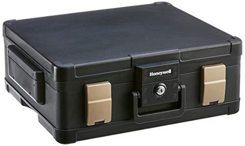 Honeywell 1104G Wasserdichter feuerfester Dokumentenkassette, 11 L, 60 Minuten Schutz mit Pneumatische Sicherheitsscharniere