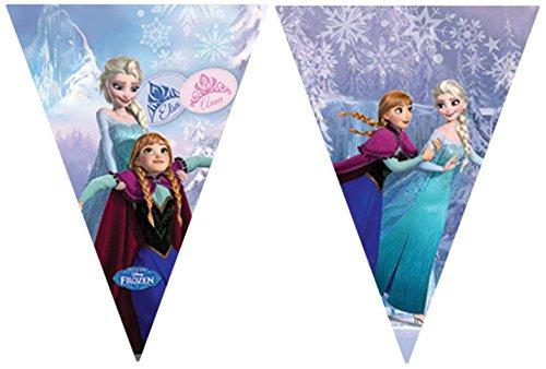2,6 m Disney Frozen wimpelketting banner in lichtblauw