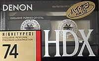 DENON カセットテープ HD-X 74分 デノン ハイポジ HD-X74P