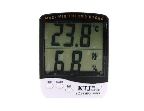 Termómetro de interior Digital Max-Min con higrómetro (blanco)