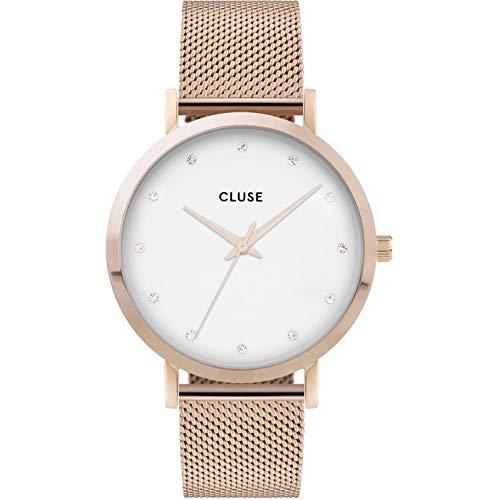 CLUSE Damen Analog Quarz Uhr mit Edelstahl Armband CW0101202002