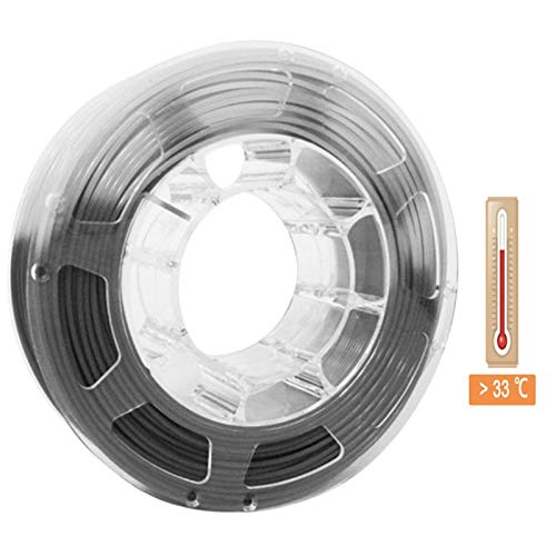 QingH yy 1.75 PLA Filament Color Change 3d Printer Changing Filament 1kg Spool 2.2 Lbs Printing Pla Material Color Changing with Temperature DYCS0820 (Color : Grey to White)