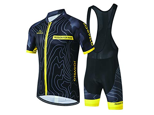 JOGVELO Maillot Ciclismo, Ropa Ciclismo Conjunto Hombre Jersey + Culotes Ciclismo Reflectante Transpirable, XL