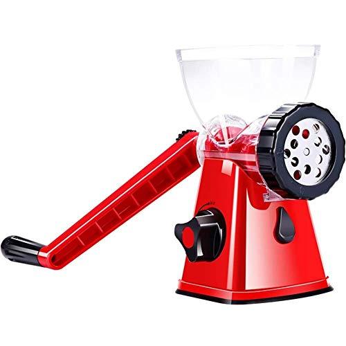 ZFDM petits légumes au sol hachoir à viande multifonctionnelle machine manuelle de lavements ménage main-coudés couteau en acier inoxydable sautés (Color : Red)