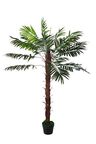 Sarah B XXL Kokos-Palme Farnpalme JWT1127 Riesige künstliche grüne Kokos Palme 140cm hoch, Kunstpflanze Baum Zimmerpflanze künstlich