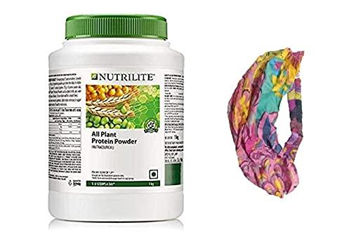 Nutrilite All Plant Protein Powder - 1kg and stylish hair/head band