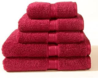 Luxurious 2 PC Luxury Egyptian Cotton Combed Bath Towels Set Burgundy