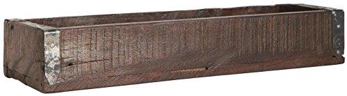 Holzkiste Ordnungsbox Allzweckkiste mit Metallbeschlag Antik Altholz 35 x 12 x 7 cm jede Kiste ein Unikat