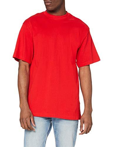Urban Classics Tall Tee - Maglietta a Maniche Corte Uomo, Rosso (Red), M