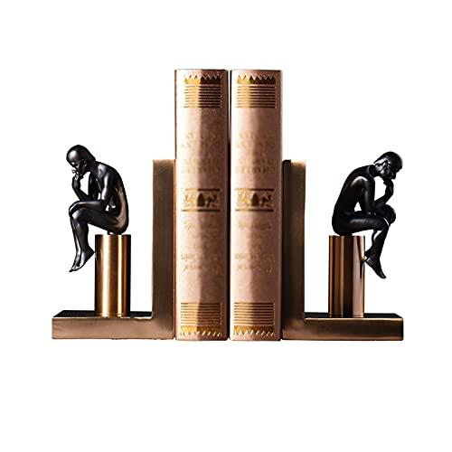 Sujeta Libros Sujetalibros Estilo Europeo Pensatoria Bookends Bookshelf Metal Anti-Movimiento Felicitación Oficina Sala de estar Decoración Adornos Almacenamiento Pesado Libros Reservar Creativa Sujet