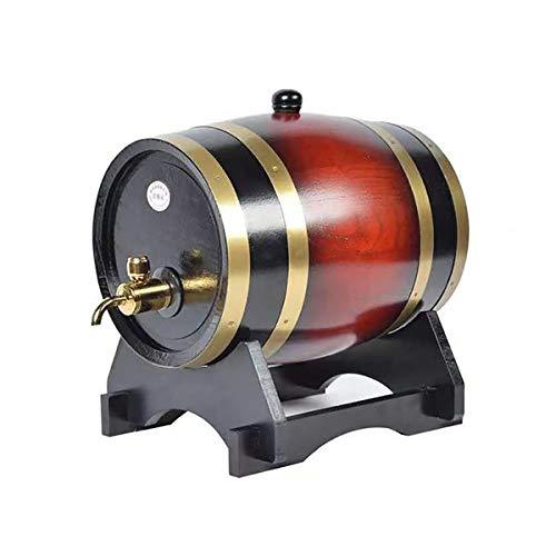 XER 5 Liter Whiskey Barrel Dispenser Hout Eiken Wijnvat Decanter voor het serveren tafel Home Accent Display Opslag van Geesten, Liquors
