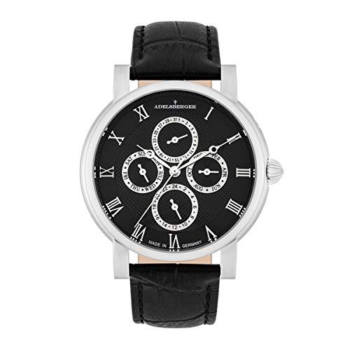 Adelsberger Reloj para Hombre Análoga Japón de Cuarzo con Cerrea de Cuero Real Made in Germany 10021020