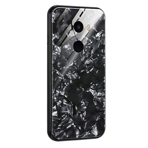 AIsoar Custodia per Xiaomi Mi Mix 2S Cover + Vetro Temperato Case Posteriore+Ultra Thin Slim Trasparente TPU Silicone Modello Custodia Antiurto AntiGraffio Brillante Shell Rosso (Black)