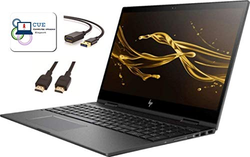 "HP Envy X360 15.6"" FHD IPS Touchscreen Flagship 2-in-1 Laptop, AMD Quad-Core Ryzen 5 2500U(>i7-7500U), 8GB DDR4, 512GB PCle SSD, AMD Radeon Vega 8, 802.11ac, Backlit KB, Win 10 + CUE Accessories"