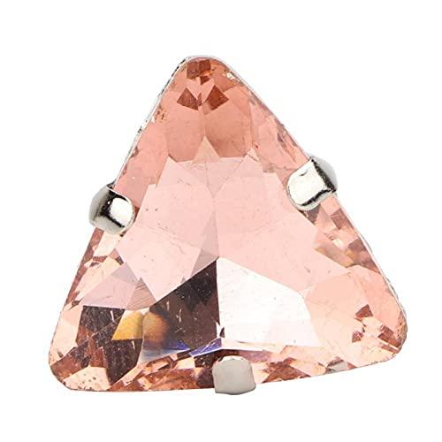 Costura de diamantes de imitación Garra de diamantes de imitación Cinturón de costura Serie Zapatos para broches(Champagne)
