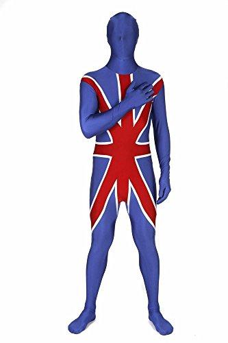 Morphsuit™ - Tuta Intera Aderente per Travestimento con Bandiera Britannica, Unisex Adulto, Taglia: XL