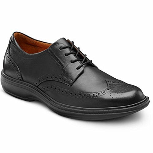 Dr. Comfort Wing Men's Therapeutic Diabetic Extra Depth Dress Shoe: Black 8 Medium (B/D) Lace