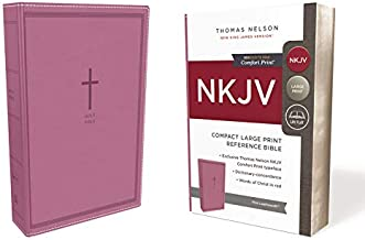 NKJV, Reference Bible, Compact Large Print, Leathersoft, Pink, Red Letter, Comfort Print: Holy Bible, New King James Version